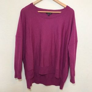 Eileen Fisher Wool Top M Purple Oversized